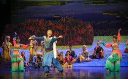 Muestre la luna del ballet del baile-Hui sobre Helan Fotografía de archivo