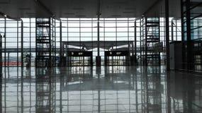 Muestre la plataforma en el aeropuerto de Shangai Hongqiao por el Año Nuevo de China Imágenes de archivo libres de regalías