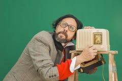 Muet par radio de bakélite Image libre de droits