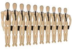 Muets dans une rangée - plus des mêmes hommes Photo libre de droits