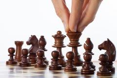 Mueva el ajedrez Foto de archivo libre de regalías