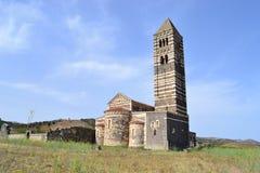 Mueva hacia atrás la vista de Saccargia Fotos de archivo libres de regalías
