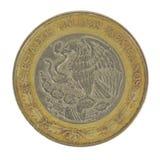 Mueva hacia atrás de moneda de 5 Pesos Foto de archivo