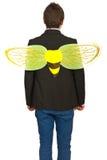 Mueva hacia atrás del hombre de negocios ocupado como una abeja Imagen de archivo libre de regalías