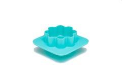 Muffa del silicone per cuocere isolato fotografia stock
