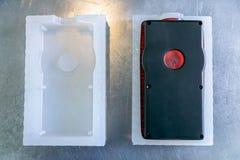 Muffa per la fabbricazione di parti di plastica Fabbricazione dei prodotti di plastica Concetto medio di affari Passa il primo pi fotografie stock libere da diritti
