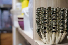 Muffe del bigné del metallo Fotografie Stock