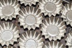Muffe dell'alluminio per i bigné bollenti Fotografia Stock