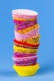 Muffin ή cupcake ψησίματος φλυτζάνια Στοκ φωτογραφία με δικαίωμα ελεύθερης χρήσης