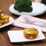 Muffin αυγών μπρόκολου Στοκ φωτογραφίες με δικαίωμα ελεύθερης χρήσης