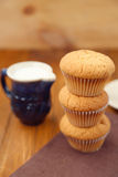Muffin με το γάλα Στοκ φωτογραφία με δικαίωμα ελεύθερης χρήσης