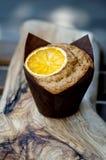 Muffin με το πορτοκάλι Στοκ φωτογραφίες με δικαίωμα ελεύθερης χρήσης