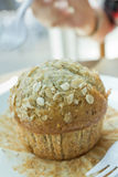 Muffin μπανάνα Στοκ Φωτογραφία