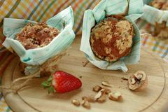 Muffin μπανανών Στοκ Εικόνα
