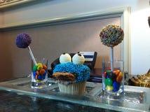 Muffin μπλε τέρας Στοκ Φωτογραφία