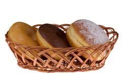 Muffin που απομονώνεται στο λευκό Στοκ Εικόνα