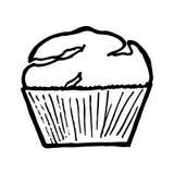 Muffin στο άσπρο υπόβαθρο Στοκ φωτογραφίες με δικαίωμα ελεύθερης χρήσης