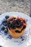 Muffin στο πιάτο Στοκ εικόνες με δικαίωμα ελεύθερης χρήσης