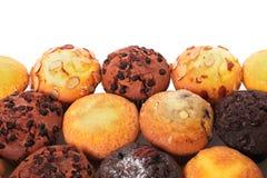 Muffin συσσωματώνει τις διάφορες διαφορετικές γεύσεις συνόρων Στοκ εικόνα με δικαίωμα ελεύθερης χρήσης