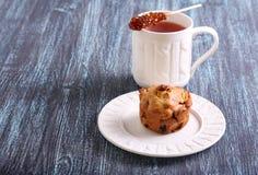 Muffin της Apple, σταφίδων και ξύλων καρυδιάς Στοκ Φωτογραφία