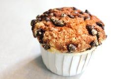 Muffin τσιπ σοκολάτας ανθυγειινή κινηματογράφηση σε πρώτο πλάνο τροφίμων Στοκ Εικόνες