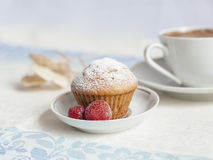 Muffin φραουλών Στοκ φωτογραφία με δικαίωμα ελεύθερης χρήσης