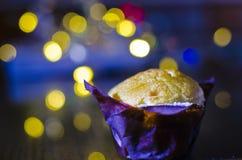 Muffin Χριστουγέννων Στοκ φωτογραφία με δικαίωμα ελεύθερης χρήσης