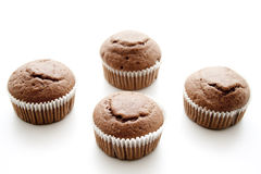 Muffin. Chocolates muffin wrapped in paper Stock Photo