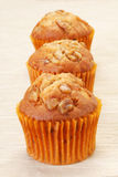 Muffin. Delicious muffin on gray background Stock Photography