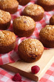 Muffin. Baked pastry Muffins with raspberry Royalty Free Stock Image