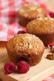 Muffin. Baked pastry Muffins with raspberry Royalty Free Stock Photography