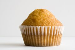 Muffin. Close-up and face view on white background Stock Photo