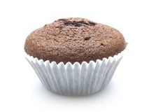 Muffin. Chocolate muffin on white background Stock Image
