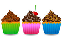 Muffin. Vector illustration of different muffin Royalty Free Stock Photo