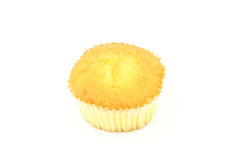 Muffin. A plain muffin on a white background Royalty Free Stock Photos