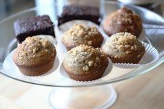 Muffin ai mirtilli al forno freschi Fotografie Stock