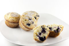 Muffin ai mirtilli casalinghi Fotografie Stock
