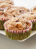 Muffin ai mirtilli casalingo per il Natale Fotografia Stock
