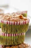 Muffin ai mirtilli casalingo per il Natale Fotografie Stock