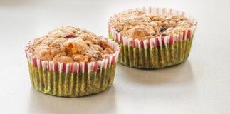 Muffin ai mirtilli casalingo per il Natale Fotografia Stock Libera da Diritti