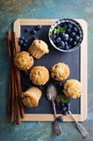 Muffin ai mirtilli su un vassoio Fotografia Stock Libera da Diritti