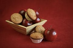 Muffin and apple Royalty Free Stock Images