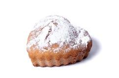 Muffin auf einem weißen Hintergrund Stockbild