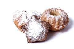 Muffin auf einem weißen Hintergrund Lizenzfreie Stockfotos