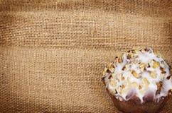 Muffin auf Leinwand lizenzfreie stockfotos