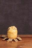 Muffin bakery on teak Stock Photo