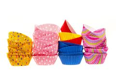 Muffin baking cups Stock Image