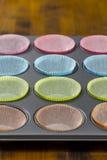 Muffin baking sheet Stock Image