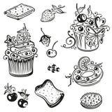 Muffin, bigné Immagine Stock Libera da Diritti