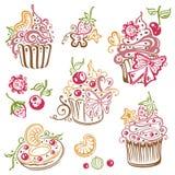 Muffin, bigné Fotografie Stock Libere da Diritti